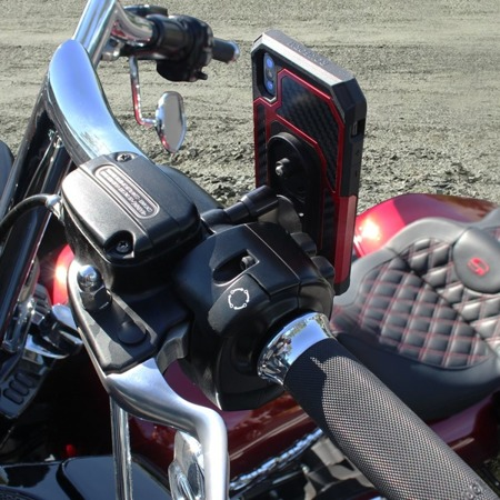 Aluminum Motorcycle Perch Mount - Polished