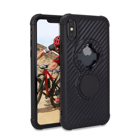 Die Hülle RokForm Crystal Carbon Black für Apple iPhone X / XS