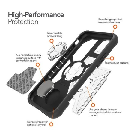 Die Hülle RokForm Crystal Carbon Clear für Apple iPhone 11