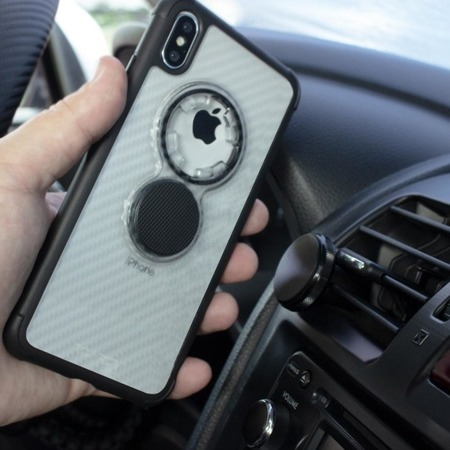 Die Hülle RokForm Crystal Carbon Clear für Apple iPhone X / XS