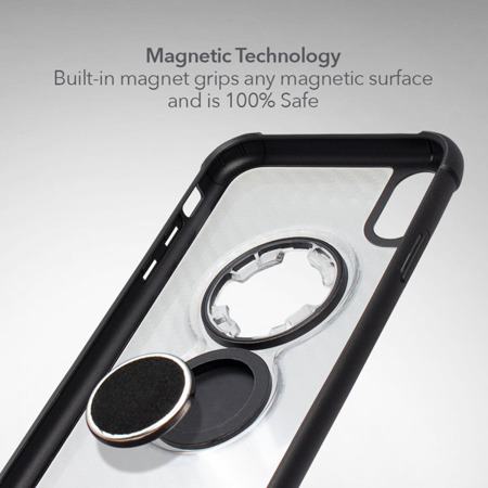 Die Hülle RokForm Crystal Carbon Clear für Apple iPhone XR