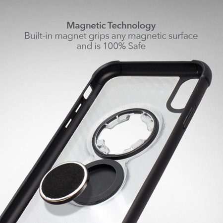 Die Hülle RokForm Crystal Carbon Clear für Apple iPhone XS Max transparent