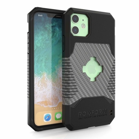 Etui RokForm Rugged Black do Apple iPhone 11 - czarne